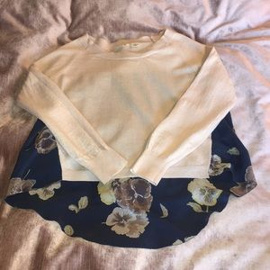 Final⚠️ Anthropologie Mixed Media Sweater